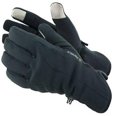 Manzella Softshell Men's Commuter Gloves with TouchTip™ - Black