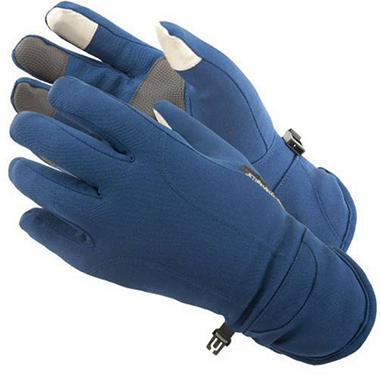 Manzella Softshell Men's Commuter Gloves with TouchTip™ - Nautical Blue