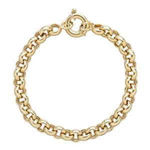 Rolo Bracelet Bonded 14K Yellow Gold & Sterling Silver