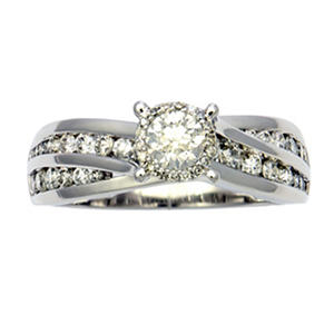 1.00 ct. t.w. Unique Brilliance Diamond Bridal Ring in 14K White Gold H-I, I1 (Appraisal Value: $1,755)