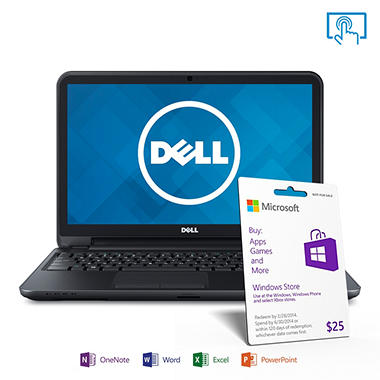 "Dell Inspiron i15RVT-13381 15.6"" Touchscreen Laptop Computer, Intel Core i5-4200U, 6GB Memory, 500GB Hard Drive w/ Microsoft Office Home and Student 2013"