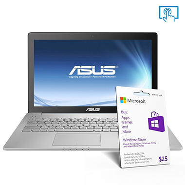"ASUS 15.6"" Touch Laptop Computer, Intel Core i7-4700HQ, 8GB Memory, 1TB Hard Drive"