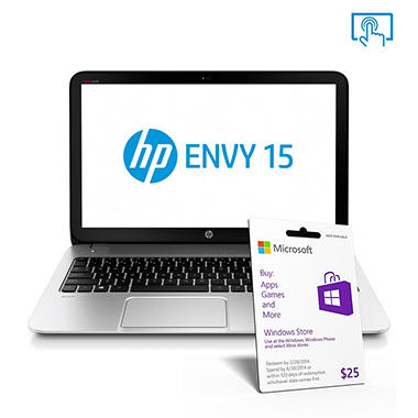 "HP ENVY 15-j057cl 15.6"" Touch Laptop Computer, Intel Core i5-3230M, 8GB Memory, 1TB Hard Drive"