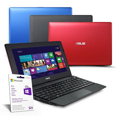 "ASUS X102BA-BH41T 10.1"" Touchscreen Laptop Computer, AMD A4-1200, 2GB Memory, 320GB Hard Drive with Microsoft Office Home and Student 2013 - Various Colors"