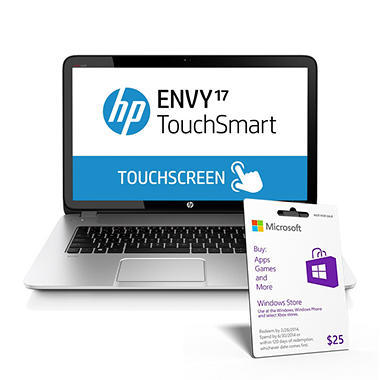 "HP ENVY 17-j017cl 17.3"" TouchSmart Laptop Computer, Intel Core i5-4200M, 8GB Memory, 750GB Hard Drive"