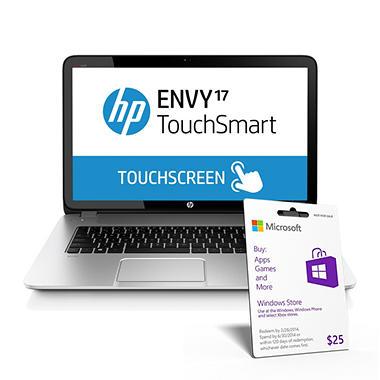 "HP ENVY 17-j017cl 17.3"" TouchSmart Laptop Computer, Intel Core i5-4200M, 8GB Memory, 750GB Hard Drive"