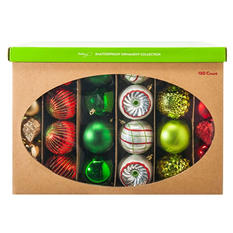 Shatterproof Ornament Collection - Traditional Colors (100 Count)