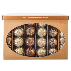 Shatterproof Ornament Collection - Gold (100 Count)
