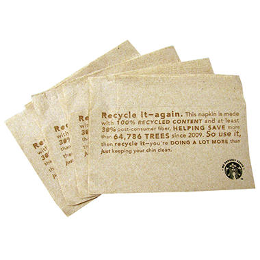 "Starbucks Napkins ""We Proudly Serve"" - 600 Napkins"