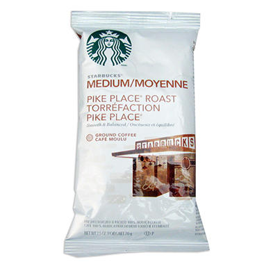 Starbucks Pike's Place Medium Roasted Blend - 2.5 oz Portion Pack - 18 ct.