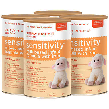 Simply Right Sensitivity Infant Formula - 4 pk.