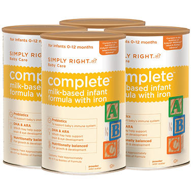 Simply Right Complete Infant Formula - 4 pk.