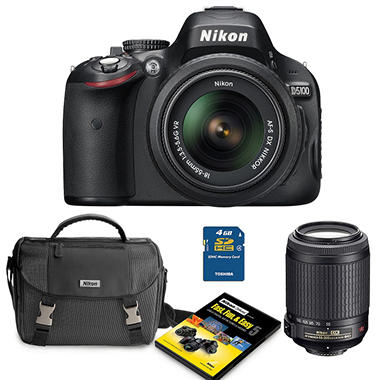 Nikon D5100 16.2MP Digital SLR Value Bundle