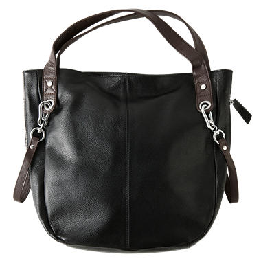 Sasha Di Viaggio Leather Hobo Bag - Black
