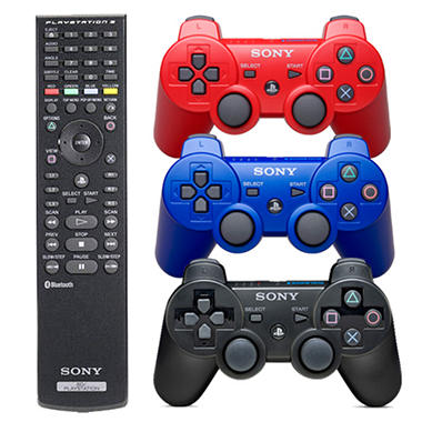 PS3 Dual Shock 3 Controller with Blu-ray Remote