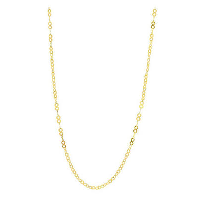 """20"""" Infinity Chain Necklace In 14K Yellow Gold"""