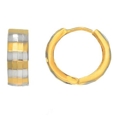 14 Karat Two-Tone Snuggable  Earrings