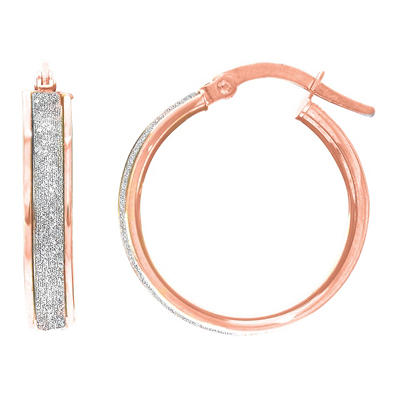 Round Hoop Earrings in 14K Rose Gold