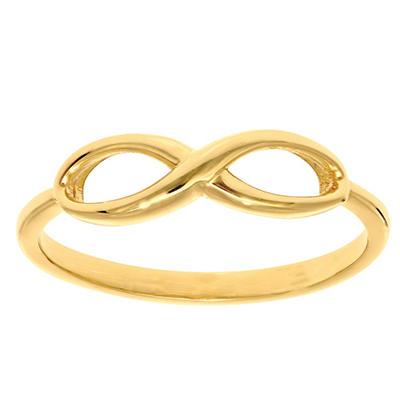 Infinity Ring In 14K Yellow Gold