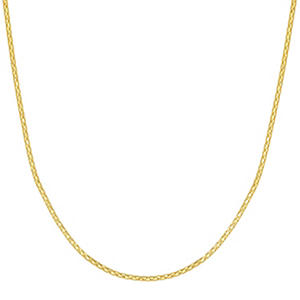 "22"" Adjustable Popcorn Chain In 14K Yellow Gold"