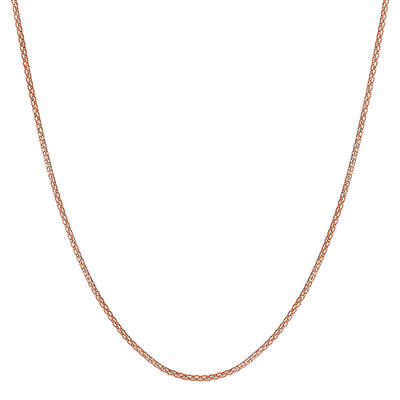 "22"" Adjustable Popcorn Chain in 14K Rose Gold"
