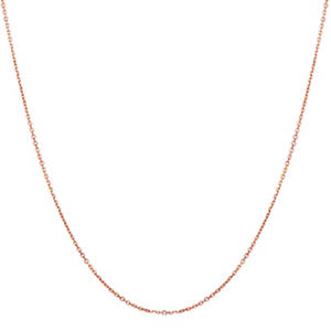 "22"" Adjustable Cable Chain in 14K Rose Gold"