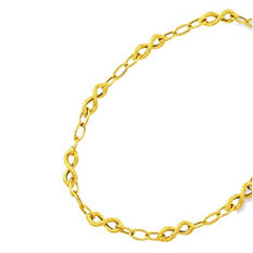 Textured Infinity Necklace In 14K Yellow Gold