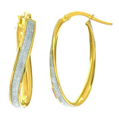 Italian Hoop Earrings In 14K Yellow Gold