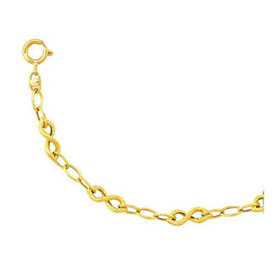 Textured Infinity Bracelet In 14K Yellow Gold