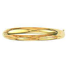 6mm Polished Bangle In 14K Yellow Gold