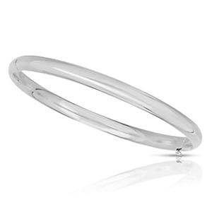 5mm Polished Bangle In 14K White Gold
