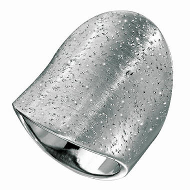 27mm Stardust Ring in Sterling Silver