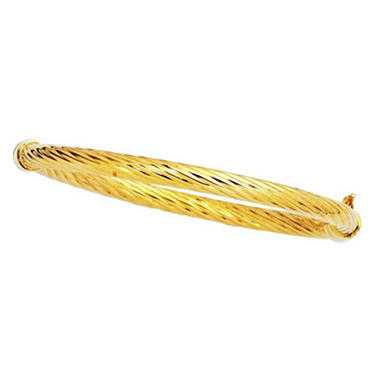 5mm Twist Bangle In 14K Yellow Gold