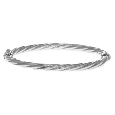 5mm Twist Bangle In 14K White Gold