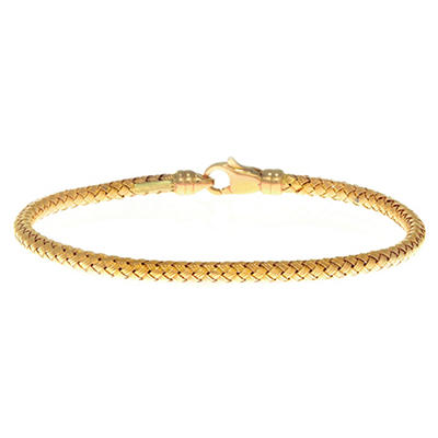 3.4mm Weave Bangle In 14K Yellow Gold