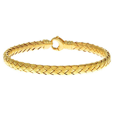 5.5mm Weave Bangle In 1`4K Yellow Gold
