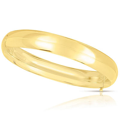 10mm Polished Bangle In 14K Yellow Gold