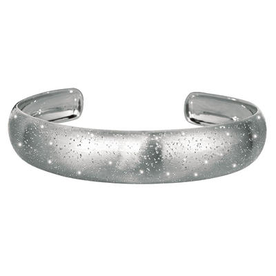 15mm Stardust Cuff Bangle In Sterling Silver