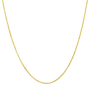 "22"" Adjustable Cable Chain In 14K Yellow Gold"