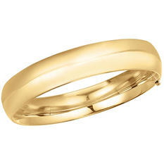 13.5mm Polished Bangle In 14K Yellow Gold