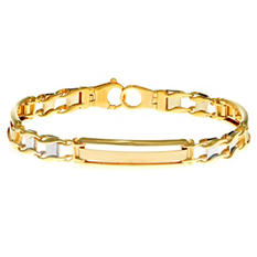 "8.25"" Two-Tone Men's Bracelet In 14K Gold"