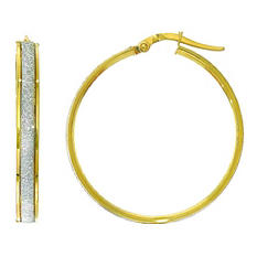 Italian Hoop Earrings In 14K Yellow Gold