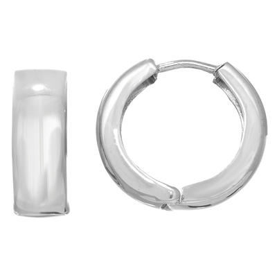 Snuggable Hoop Earrings in 14K White Gold