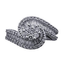 Click here for .98 ct. t.w. Diamond Swirl Ring in 14K White Gold... prices
