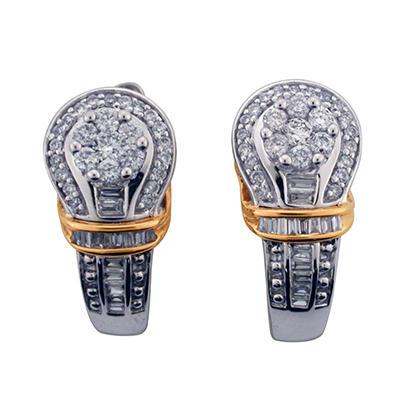 0.60 CT. T.W. Diamond Earrings in 14K Two-Tone Gold (I, I1)