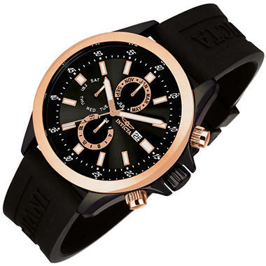 Invicta Specialty Sport Men's Watch - Black and Rose Gold Dial with Black Face