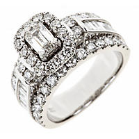 2.95 CT. T.W. Emerald-Cut Diamond Engagement Ring in 14K White Gold (I, SI2)
