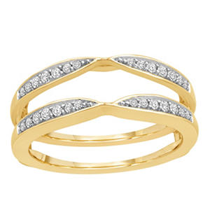 0.25 ct. t.w. 14K Yellow Gold Insert Ring With Round Brilliant Diamonds In Pave Set (H-I, I1)