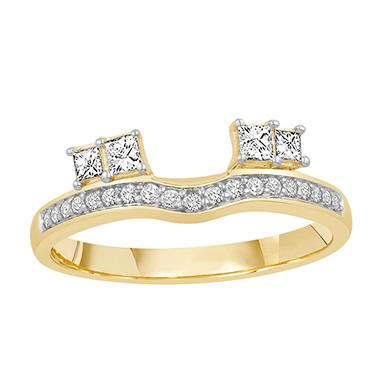 0.25 ct. t.w. 14K Yellow Gold Brilliant 2-Side Princess Cut Enhancer Wrap (H-I, I1)