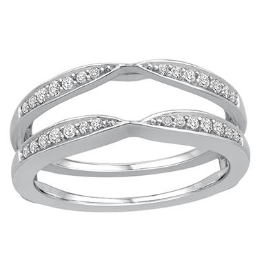 0.25 ct. t.w. 14K White Gold Insert Ring With Round Brilliant Diamonds In Pave Set (H-I, I1)